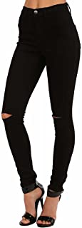 Best high waisted jeans with holes Reviews