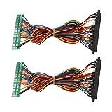 SM SunniMix Conector de Extensión de Cable de Arnés con Plantilla de Transferencia de Juego de Arcade - Estilo 1 Multicolor