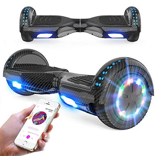 RCB Hoverboard 6,5 Zoll Elektro Skateboard für Kinder und Jugendliche Elektroroller mit Bluetooth - LED Licht Segway mit leistungsstarkem Motor Geschenk für Kinder