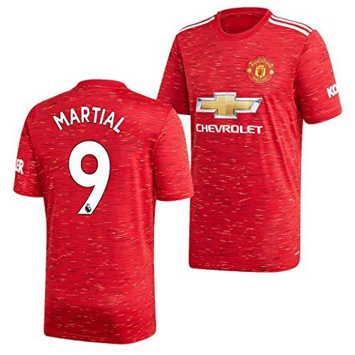 wokao Anthony Martial Manchester United Rot,Maillot Anthony Martial Trikot 2020/21 für Herren & Jungen(Rot,18)