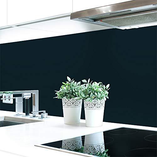 Küchenrückwand Grautöne 2 Unifarben Premium Hart-PVC 0,4 mm selbstklebend - Direkt auf die Fliesen, Größe:280 x 60 cm, Ral-Farben:Schwarzgrau ~ RAL 7021
