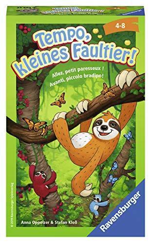 Ravensburger Mitbringspiele 23463 - Tempo, kleines Faultier!, Wett-Kletterpartie, ab 4 Jahren