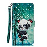 Coopay Coque Samsung A10 Animaux Panda Enfant Motif Pochette Flip Protége Portable Etui pour Samsung Galaxy A10 6.2' Cuir PU...
