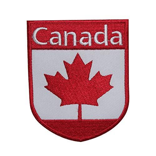 Parche bordado con la bandera nacional de Canadá