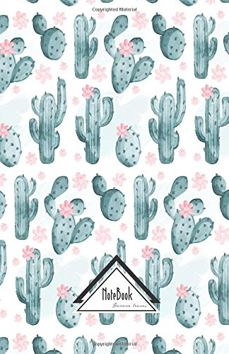 Notebook Journal Bullet Dotted Grid,Graph line:Light pink Nature Green Cactus Watercolor Pattern: Journal to write in, Small Pocket Notebook Journal Diary, 120 pages, 5.5' x 8.5'