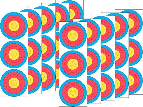 JVD 10er Set 3x20 Spot FITA WA Papierauflage Scheibenauflage Zielscheibe