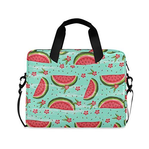 Laptop Bag Watermelon Shoulder Messenger Laptop Case Sleeve Watercolor Watermelons Flowers Business Bag 14/15/15.6 Inch for Men Women