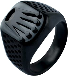 Square Ring for Men, Anti Scratches, Rust and Water Resistant, Size - Black