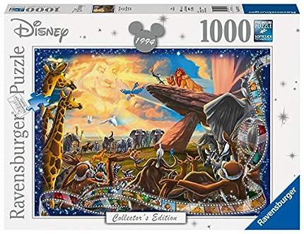 Ravensburger Puzzle 1000 Piezas, El Rey Leon, Puzzle Disney, Rompecabezas Ravensburger de Alta Calidad, Edad Recomendada 12+