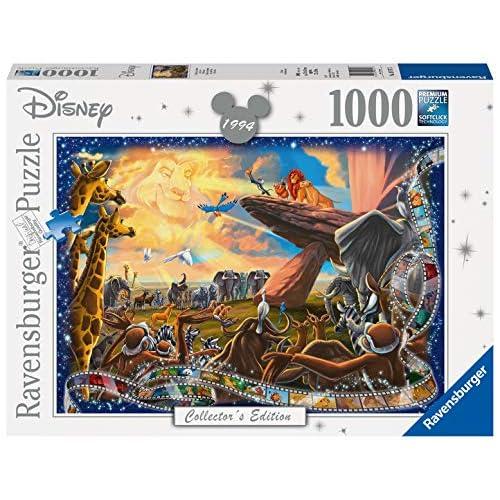 Ravensburger Puzzle, Puzzle 1000 Pezzi, Il Re Leone, Puzzle per Adulti, Disney Collector's Edition, Puzzle Disney, Puzzle Ravensburger - Stampa di Alta Qualità