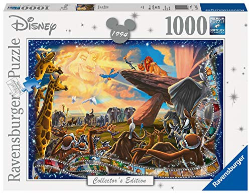 Ravensburger, Puzzle 1000 pezzi, Puzzle per Adulti, Disney Collection, Dimensione puzzle 70x50 cm, Collector's Edition, I classici Disney, Il Re Leone