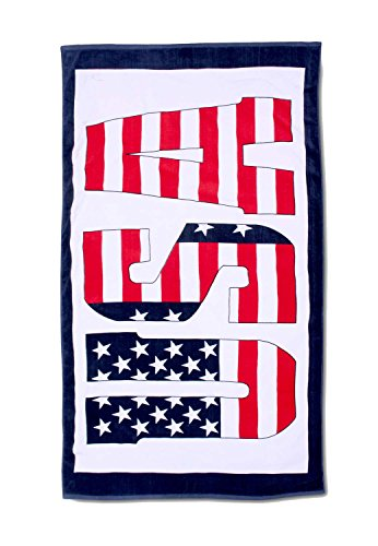 Serviette de plage, serviette de bain, serviette de sauna, motif drapeau américain, 180 x 100 cm