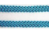 Borte-mit-Stil 2 m Posamentenborte Tracht 10mm breit Farbe: türkis