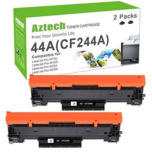 Aztech Kompatibel Tonerkartusche als Ersatz für HP CF244A 44A Laserjet Pro M15w M15a MFP M28w M28a M16a M16w M28w Laserjet MFP M28a (Schwarz,2er-Pack)