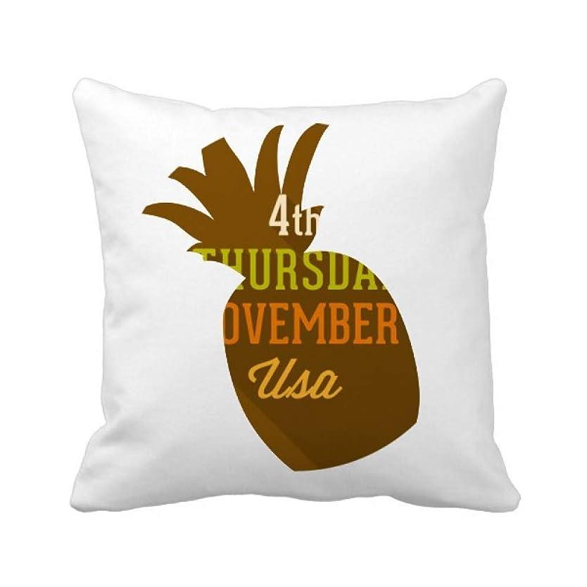 可能自体きしむガーランドの感謝祭の日のサークルパターン パイナップル枕カバー正方形を投げる 50cm x 50cm