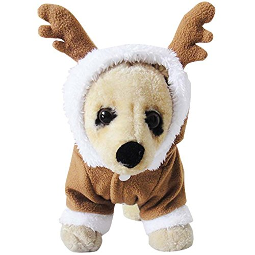 NACOCO Pet Costumes Dog Christmas Suit Dog Elk Santa Costume Polar Fleece Fit for Puppy Dog Teddy (S - http://coolthings.us