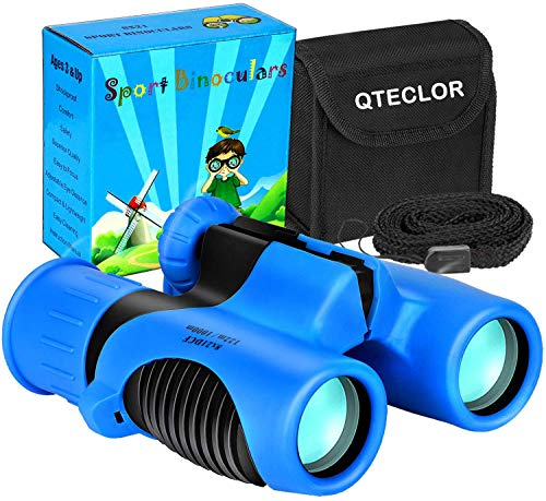 Compact Mini Binoculars for Kids – 8x21 Zoom Kids Binoculars Toy Gift Shock Proof for 3-15 Years Old Boys Girls Bird Watching Sporting Events Children Best Present (Green)
