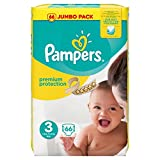 Pampers - Pannolini protezione Premium, Jumbo pack, taglia 3 - 66 pannolini