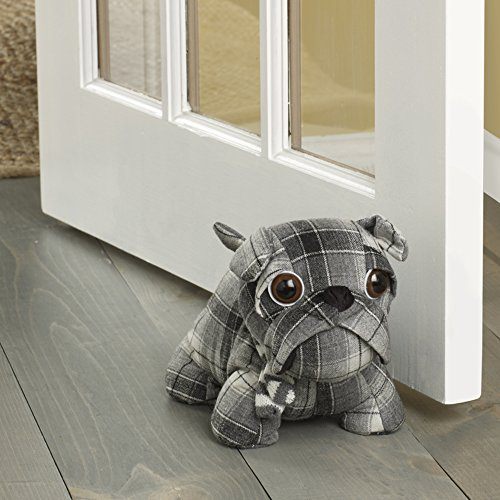Elements Bull Door Stopper, 10-Inch, Plaid Dog - 5207610