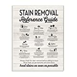 Stupell Industries Stain Removal Reference Guide Typography Wall Plaque, 10 x 15, Design By Artist Lettered and Lined