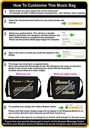 Acoustic Guitar - Personalised Custom Sheet Music & Accessories Bag MusicaliTee