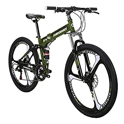 Mountain Bike TSM G4 Bicycle 21 Speed 26 Inches Wheels Dual Suspension Folding Bike