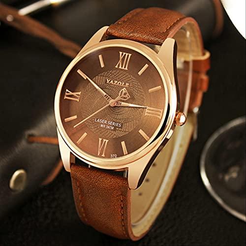 Reloj de pulsera de los hombres famosos reloj masculino reloj de cuarzo Hodinky cuarzo reloj Relogio Masculino oro marrón