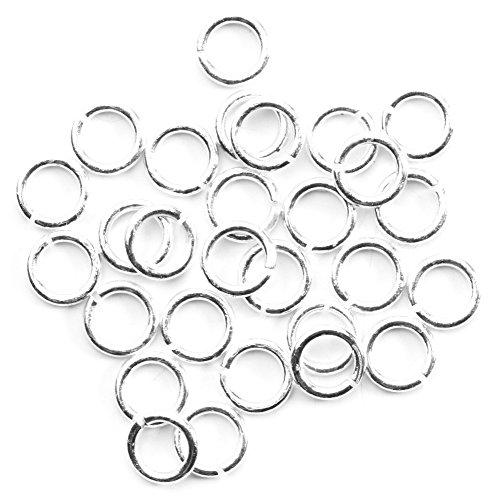 Cousin DIY 4mm Plated Silver Open Jump Rings - 30pc