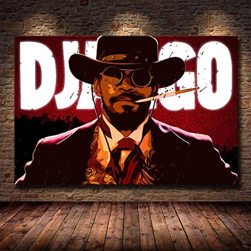 Weijiajia Quentin Poster And Prints Tarantino Django Unchained Classic Film Art Pittura murale Immagini per Soggiorno Decorazioni per la casa 50x70cm (19.68x27.55 in) F-1172