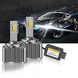 OPL5 D1S LED 100% Canbus Luz Blanca de Xenón HID para Automóvil, Chip CSP de 35W 6500K 12V, Kit de Reemplazo de Xenón OEM para Bombilla de Faro Exterior de Automóvil LED (2 Piezas)