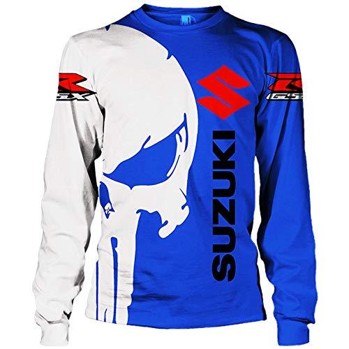 Sponybs 3D Volldruck Sweatshirt mit Kapuze, T-Shirt, Jacke, Hose, kurze Hose, für Suzuki Punisher lässig, leicht, Sweatshirt, Sportbekleidung Ober/D1/XS