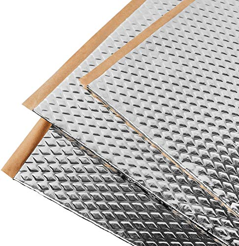 Placas insonorizantes Noico para automóviles, de 2 mm de grosor y 3,4 m2 de superficie, Aislamiento acústico de caucho butilo para coches, Aislamiento y amortiguamiento de ruidos