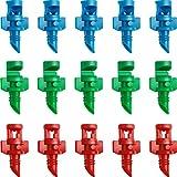 210 Piezas Aspersores de Boquilla de Nebulización de Agua Pulverizada para Césped de Jardín Rociador de Jardín de Atomización de Jardín Sistema de Riego (90 Grados, 180 Grados, 360 Grados)