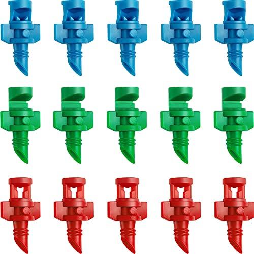 210 Stücke Garten Rasen Micro Wasser Sprüh Nebel Düse Sprinkler Bewässerung System Garden Zerstäuber Garten Sprinkler Sprüher (90 Grad, 180 Grad, 360 Grad)