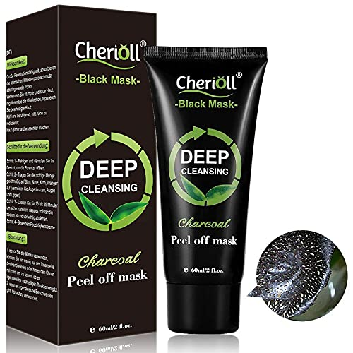 Charcoal Face Mask, Blackhead Mask, Peel Off Mask, Bamboo Charcoal Peel Off Mask, Deep Cleansing Blackhead Remover Anti Acne Oil Control Purifying Activated Carbon Remover Deep Cleaning Facial Mask