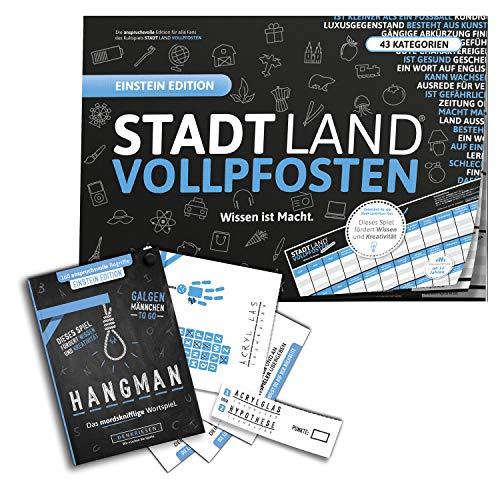 """DENKRIESEN - Einstein Duo – Stadt-Land VOLLPFOSTEN Einstein Edition + Hangman Einstein Edition"""""""