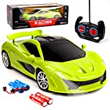 Danvren Remote Control Car Fast 1/18 Rechargeable High Speed RC Racing Cars Toys for Boys Girls Kids Age 4 5 6 7 8 9 10 11 12 with Led Lights (Green)
