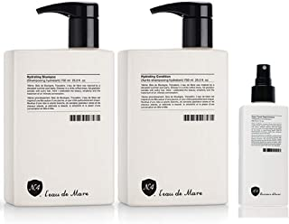 Number 4 l'eau De Mare Hydrating Shampoo & Conditioner 25.4 Oz each & Number 4 High Performance Hair Care Lumiere d'hiver Super Comb Prep & Protect 6.7 Oz