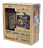 COOKUT - Shaker Miam - Réalisez Une pâte à crêpes ou Pancakes Parfaite en Moins de 2mins - Pratique, sans Robot, sans Balance ni ustensile et sans salissure - Conservation Facile - Coffret Cadeau
