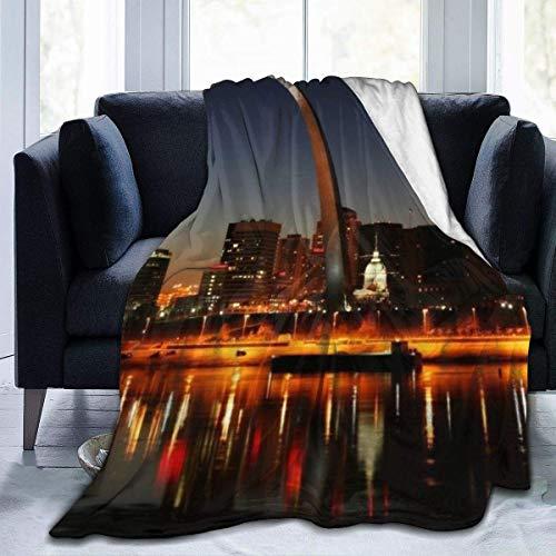 YJWLO - Manta de Forro Polar para Cama o sillón, diseño de San Luis con Arco Grande, San Luis con Arco Grande, 50
