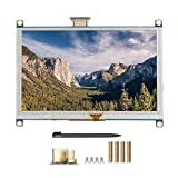 5 pulgadas 800x480 4: 3 TFT GPIO Resistencia Pantalla táctil LCD para Raspberry Pi 4B, retroiluminación Pantalla táctil Pantalla Interfaz HDMI Velocidad SPI Diver Alta velocidad HDMI con lápiz óptico