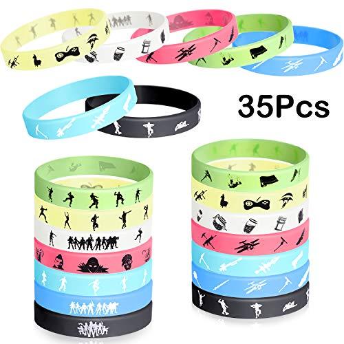 TUPARKA Gaming Party Supplies Silikon-Armband Gummiarmbänder für Kinder Gamer Video Game Themed Birthday Party Supplies Gefälligkeiten und Belohnungen
