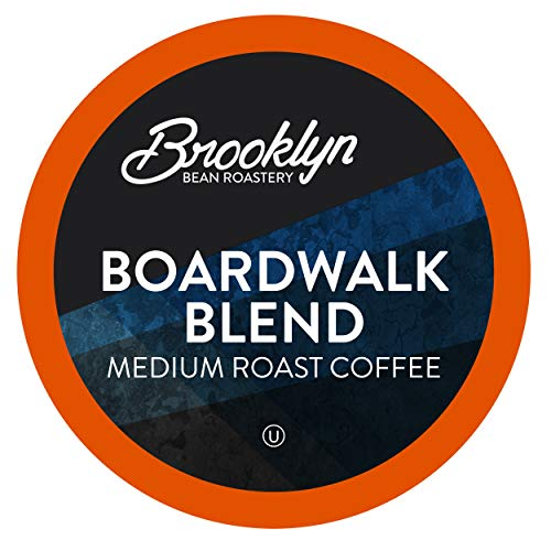 Brooklyn Beans Boardwalk Blend Medium Roast Coffee Pods, Compatible with 2.0 K-Cup Brewers