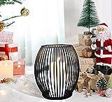 Bochee Ovaler Kerzenständer Schwarz Metall Kerzenhalter Stabkerze 2er Pack (Mittel & Klein), Vintage Deko Kerzenleuchter für Zuhause Wohnzimmer Tische Dekor, Weihnachten Hochzeit Abendessen - 6
