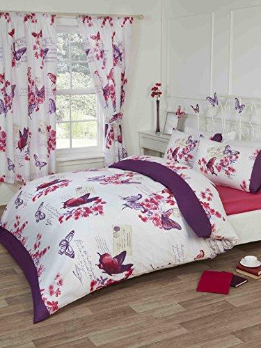 Parisienne vlinders kamer in een tas Koning dekbed Set Hoeslaken 66