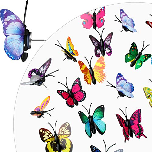30 Pieces Butterfly Push Pins Thumb Tacks for Photos Wall, Maps, Bulletin Board, Cork Boards (Random Pattern)