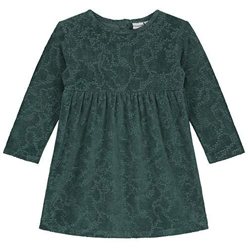 Prénatal baby meisjesjurk donkermint groen