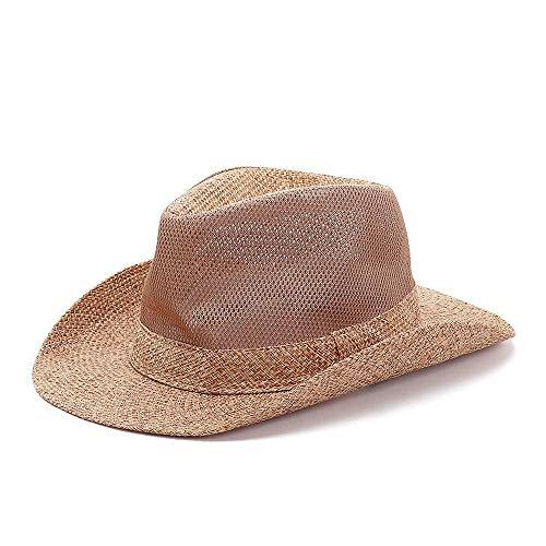 JIAHE115 Gorra de béisbol Mini Personalidad Sombrero de Vaquero Hombres Mujeres Panamá Jack Straw Sombrero clásico Cubo de Western Beach Sun
