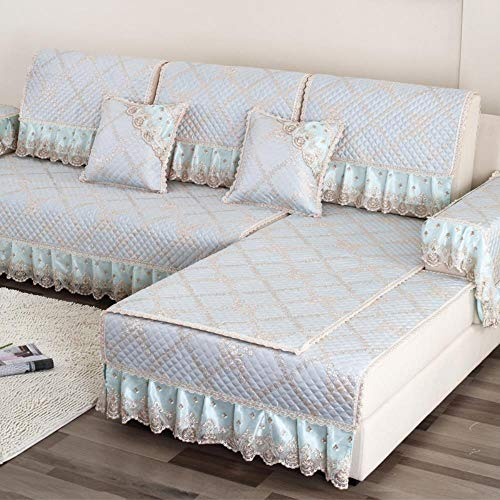 eaodz Elastic Sofa Cover, Classic Pattern, Spandex Sofa Cover for Flax 70 * 120+17Cm Lace