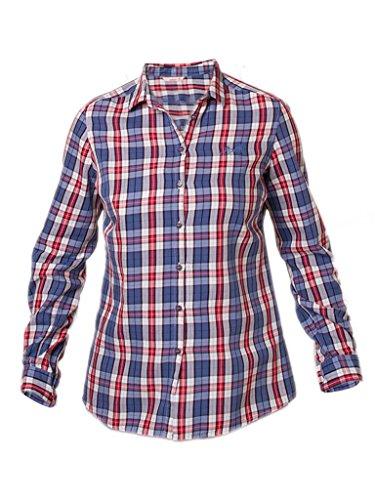 Carrera Jeans - Camicia per Donna, Fantasia a Quadri, Tessuto di Popeline IT L